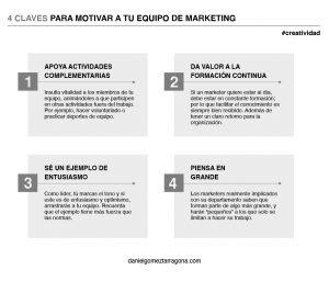 4 claves para motivar a tu equipo de marketing